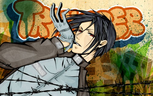 Yana Toboso, A-1 Pictures, Kuroshitsuji, Sebastian Michaelis, Vector Art Wallpaper