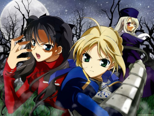 TYPE-MOON, Fate/stay night, Saber, Rin Tohsaka, Illyasviel von Einzbern Wallpaper