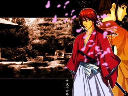 Nobuhiro Watsuki, Studio DEEN, Rurouni Kenshin, Kenshin Himura, Kaoru Kamiya Wallpaper