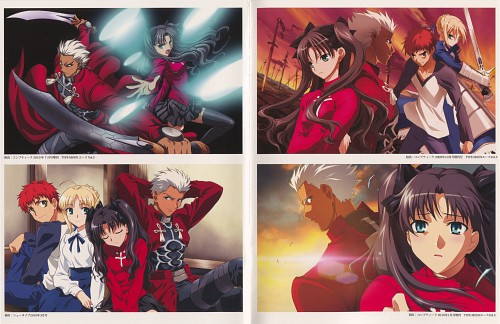 Studio DEEN, TYPE-MOON, Fate/stay night, Rin Tohsaka, Shiro Emiya