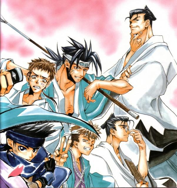 Nanae Chrono, Peacemaker Kurogane, Sanosuke Harada (Peacemaker Kurogane), Susumu Yamazaki, Shinpachi Nagakura (Peacemaker Kurogane)