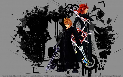 Square Enix, Kingdom Hearts, Axel, Roxas Wallpaper