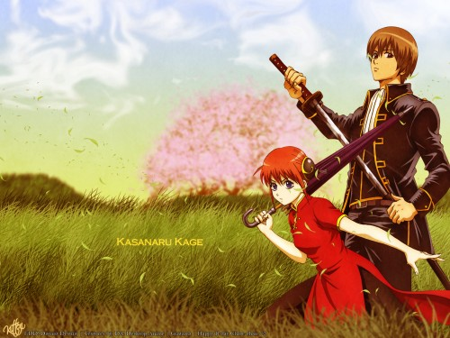 Sunrise (Studio), Gintama, Kagura, Sougo Okita Wallpaper
