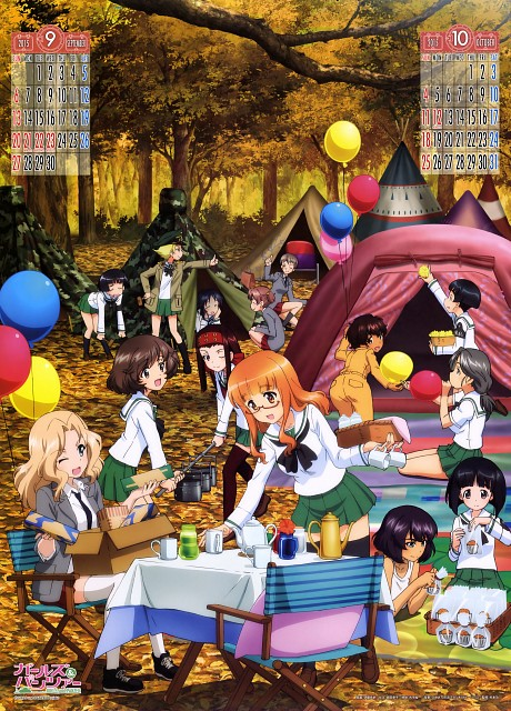 Actas, GIRLS und PANZER, GIRLS und PANZER 2015 Calendar, Riko Matsumoto, Moyoko Gotou