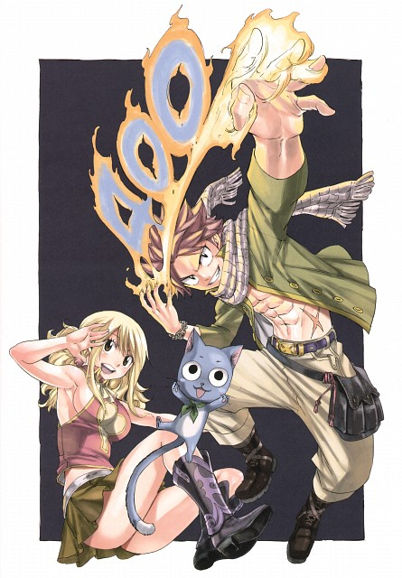 Hiro Mashima, Satelight, Fairy Tail, Fairy Tail Illustrations: Harvest, Happy (Fairy Tail)