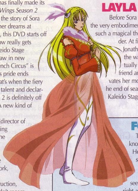 Gonzo, Kaleido Star, Layla Hamilton, Magazine Page