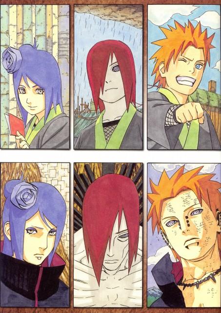 Masashi Kishimoto, Naruto, NARUTO Illustrations, Yahiko, Nagato