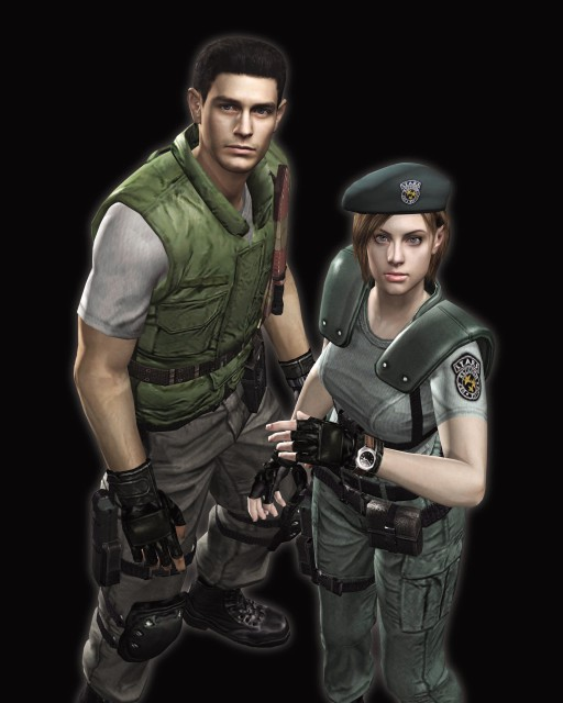 Capcom, Resident Evil 1, Jill Valentine, Chris Redfield, Official Digital Art