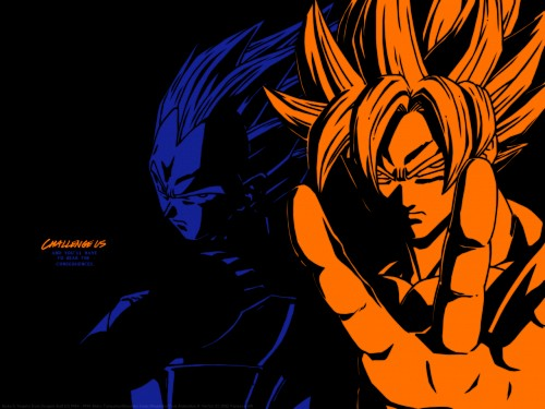 Akira Toriyama, Toei Animation, Dragon Ball, Super Saiyan Vegeta, Super Saiyan Goku Wallpaper