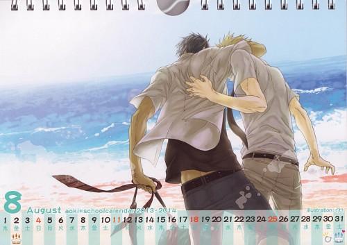 Kuroko no Basket, Aoki School Calendar 2013-2014, Ryouta Kise, Daiki Aomine, Doujinshi