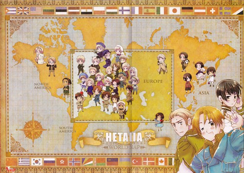 Hidekaz Himaruya, Studio DEEN, Hetalia: Axis Powers, Spain, Russia