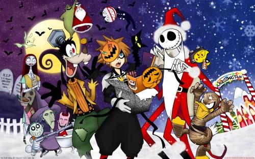 Shiro Amano, Square Enix, Kingdom Hearts, Sally, Jack Skellington Wallpaper