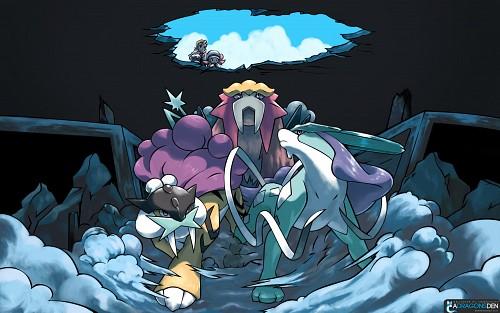 OLM Digital Inc, Nintendo, Pokémon, Suicune, Raikou Wallpaper