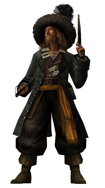 Square Enix, Kingdom Hearts, Hector Barbossa, Official Digital Art