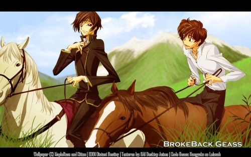 Lelouch of the Rebellion, Lelouch Lamperouge, Suzaku Kururugi, Collaboration Wallpaper