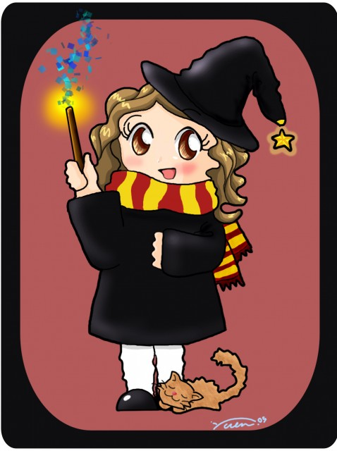 Harry Potter, Hermione Granger, Member Art, Magic