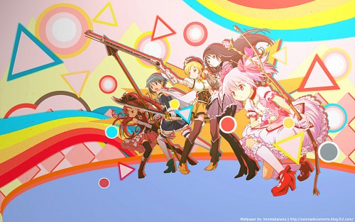 Shaft (Studio), Puella Magi Madoka Magica, Homura Akemi, Kyoko Sakura, Sayaka Miki Wallpaper