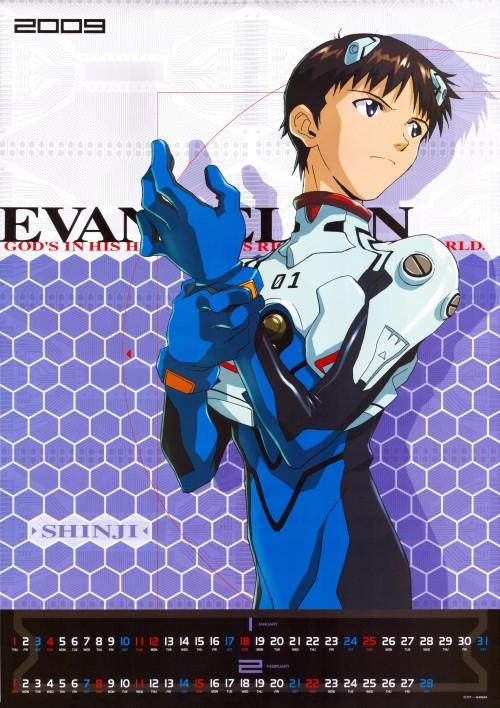 Yoshiyuki Sadamoto, Gainax, Neon Genesis Evangelion, Evangelion 2009 Calendar, Shinji Ikari