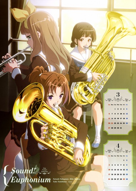 Kyoto Animation, Pony Canyon, Hibike! Euphonium, Hibike! Euphonium Calendar 2016, Natsuki Nakagawa