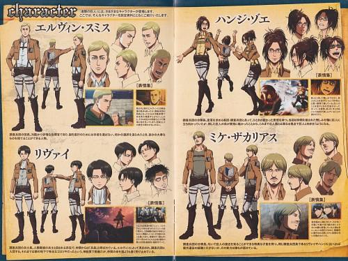 Production I.G, Shingeki no Kyojin, Levi Ackerman, Mike Zacharius, Hange Zoe