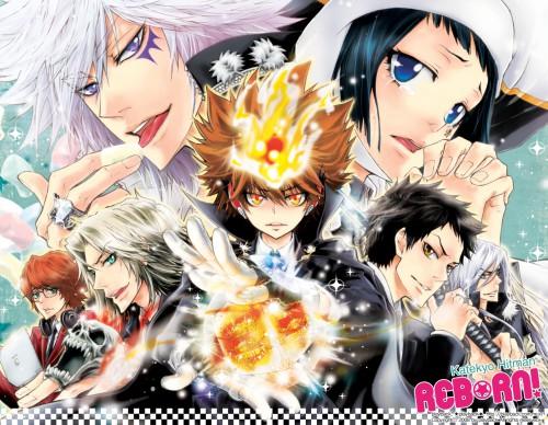Katekyo Hitman Reborn!, Byakuran, Hayato Gokudera, Uni, Tsunayoshi Sawada