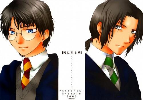 Harry Potter, Severus Snape, James Potter, Doujinshi Cover, Doujinshi
