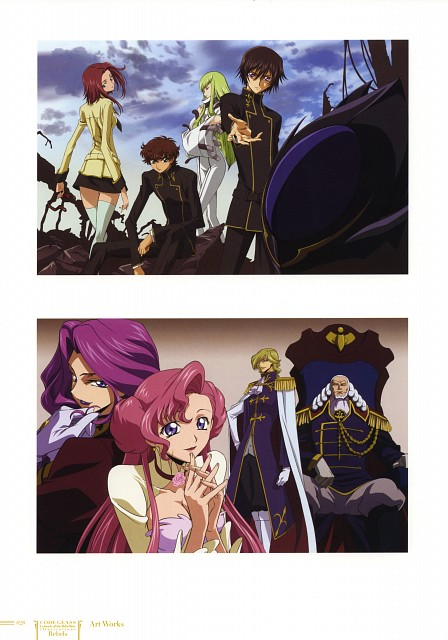 Sunrise (Studio), Lelouch of the Rebellion, Code Geass Ilustrations Rebels, Lelouch Lamperouge, Kallen Stadtfeld