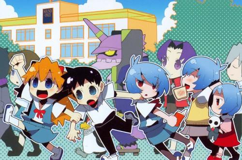 Neon Genesis Evangelion, Shinji Ikari, Pen Pen, Misato Katsuragi, Asuka Langley Soryu