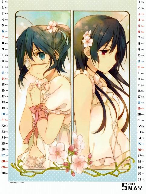 Nozomi Ousaka, Kyoto Animation, Chuunibyou demo Koi ga Shitai!, Chuunibyou demo Koi ga Shitai! School Calendar 2013, Rikka Takanashi