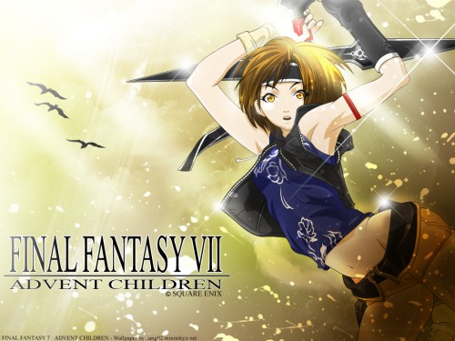 Square Enix, Final Fantasy VII: Advent Children, Yuffie Kisaragi, Vector Art Wallpaper