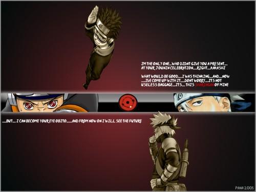 Masashi Kishimoto, Studio Pierrot, Naruto, Kakashi Hatake, Obito Uchiha Wallpaper
