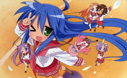 Lucky Star, Ayano Minegishi, Kagami Hiiragi, Misao Kusakabe, Miyuki Takara