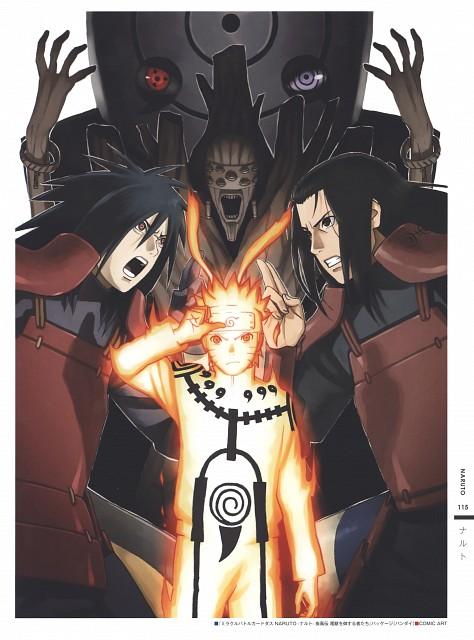 Naruto, The Art of Tetsuya Nishio: Full Spectrum, Obito Uchiha, Hashirama Senju, Madara Uchiha