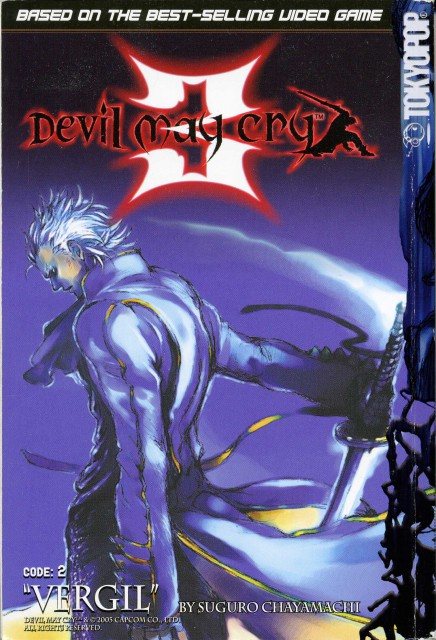 Chayamachi Suguro, Capcom, Devil May Cry, Vergil, Manga Cover