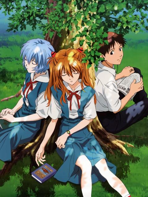 Gainax, Neon Genesis Evangelion, Shinji Ikari, Asuka Langley Soryu, Rei Ayanami
