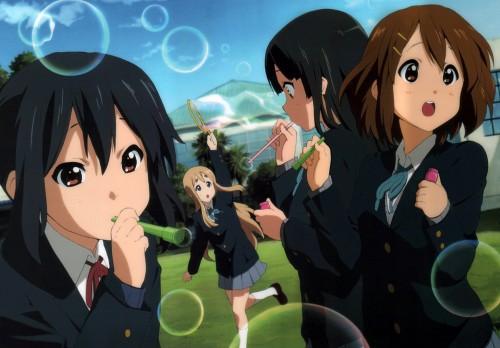 Kyoto Animation, K-On!, Tsumugi Kotobuki, Azusa Nakano, Yui Hirasawa