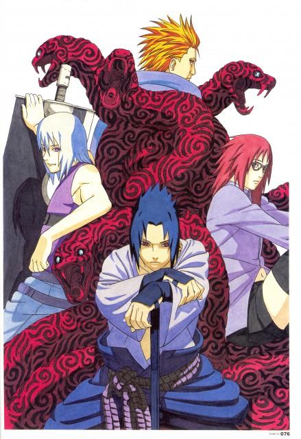 Masashi Kishimoto, Naruto, NARUTO Illustrations, Suigetsu Hozuki, Juugo