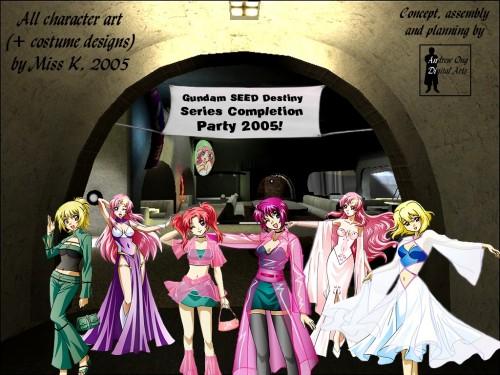 Sunrise (Studio), Mobile Suit Gundam SEED Destiny, Cagalli Yula Athha, Stellar Loussier, Lunamaria Hawke Wallpaper