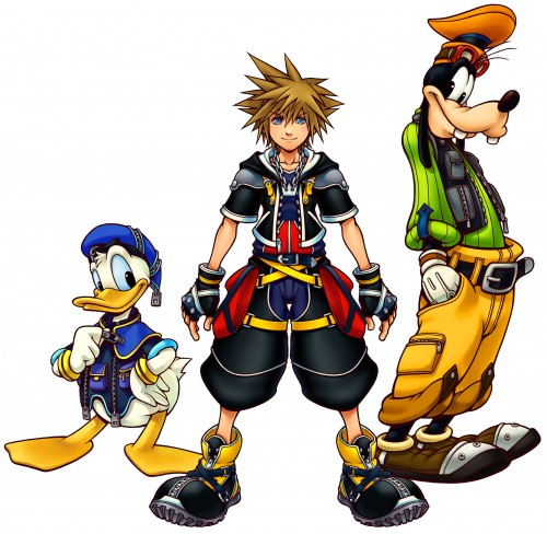 Square Enix, Kingdom Hearts, Goofy, Sora, Donald Duck