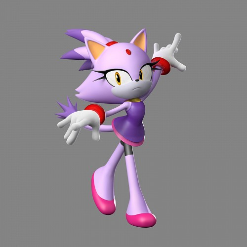Sega, Sonic the Hedgehog, Blaze the Cat, Official Digital Art