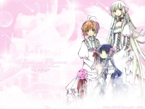 CLAMP, Chobits, Tomoyo Daidouji, Sakura Kinomoto, Chii Wallpaper