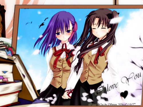 TYPE-MOON, Fate/stay night, Rin Tohsaka, Sakura Matou Wallpaper