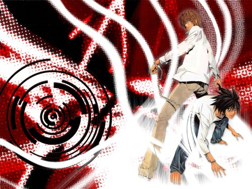 Takeshi Obata, Madhouse, Death Note, L, Light Yagami Wallpaper