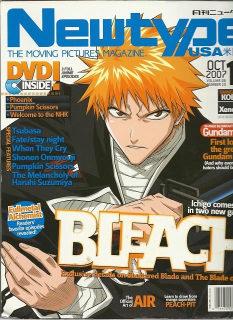 Studio Pierrot, Bleach, Ichigo Kurosaki, Newtype Magazine, Magazine Covers