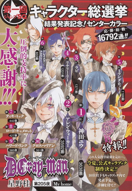Katsura Hoshino, D Gray-Man, Allen Walker, Lenalee Lee, Yu Kanda