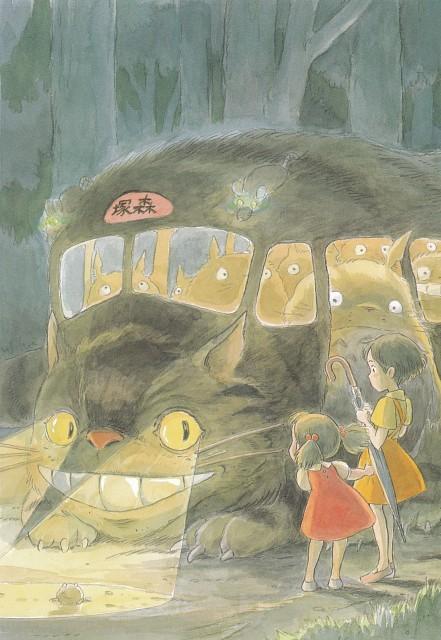 Hayao Miyazaki, Studio Ghibli, My Neighbor Totoro, The Art of My Neighbor Totoro, Catbus