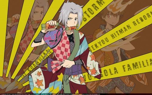 Akira Amano, Artland, Katekyo Hitman Reborn!, Hayato Gokudera, Tsunayoshi Sawada Wallpaper