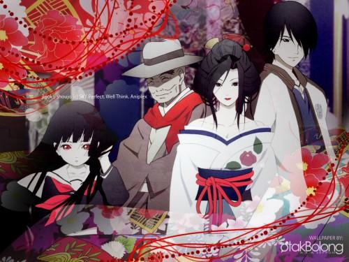 Jigoku Shoujo, Ai Enma, Ren Ichimoku, Wanyuudou, Hone Onna Wallpaper