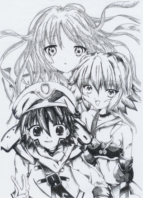 Yoshiyuki Sadamoto, .hack//Legend of the Twilight, Aura, Rena Kunisaki, Shugo Kunisaki