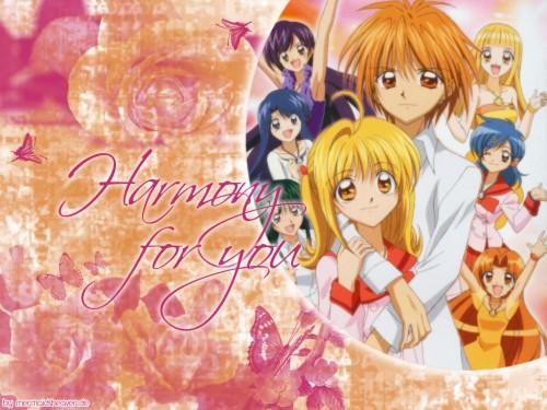Pink Hanamori, SynergySP, Mermaid Melody Pichi Pichi Pitch, Rina Touin, Karen (Mermaid Melody) Wallpaper